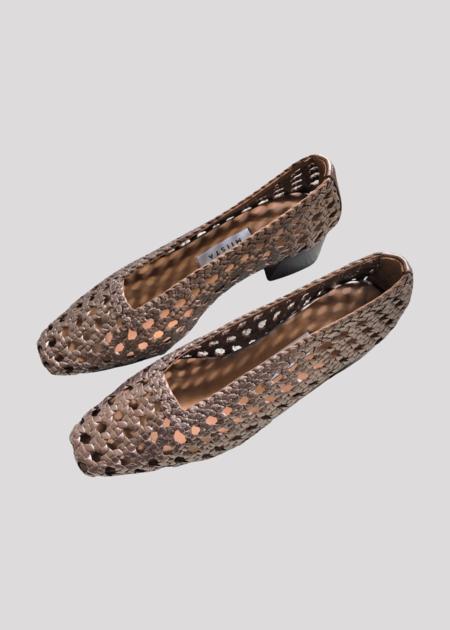 Miista Taissa Heels - brown metallic