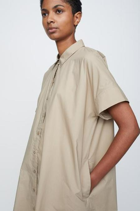 Just Female SUMMER21 NORIA blouse dress - taupe