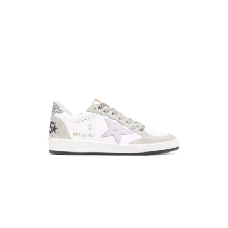 Golden Goose Ball Star Leather Upper Star Women GWF00117.F001902.10727 sneakers - White/Lilac/Oil Green