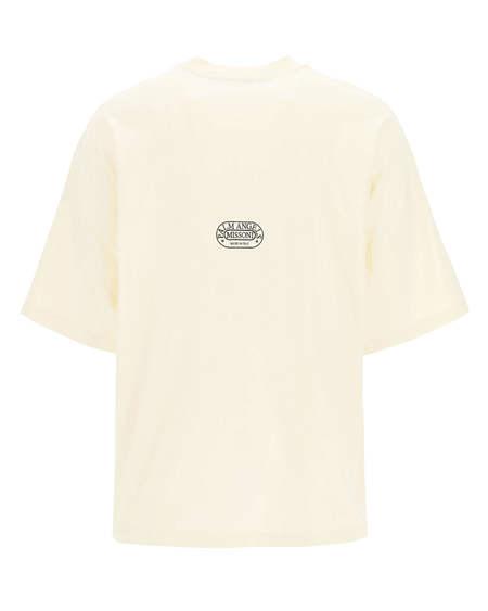 Palm Angels x Missoni Logo T-shirt  - cream/white