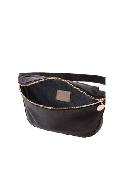 Clare V. Velvet Leather Fanny Pack - Black