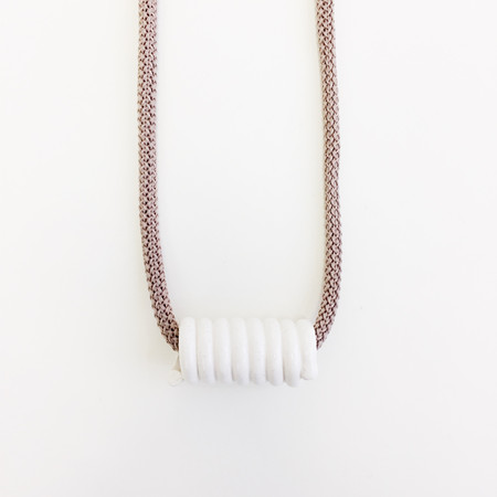 Aubrey Hornor Nude Cord Coil Necklace