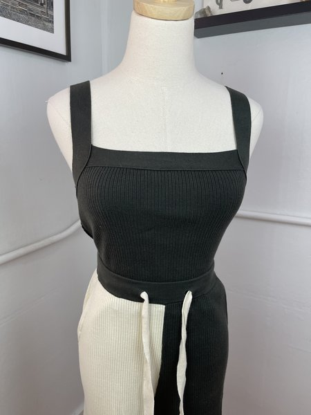 PRE-LOVED Back Beat Co. Two-Tone Pants - black/white