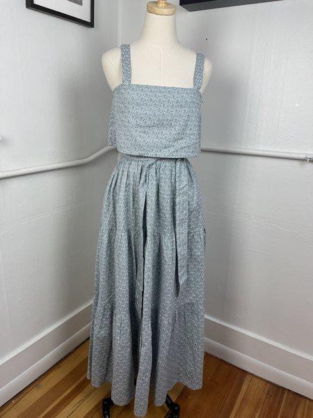 Laude the Label Floral Skirt Set - blue multi