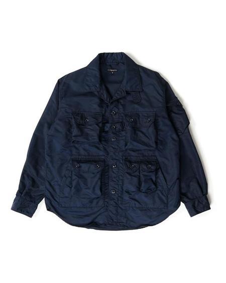 Engineered Garments Flight Satin Nylon Explorer Shirt Jacket - Navy