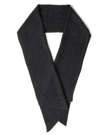 Engineered Garments Wool Knit Scarf - Charcoal