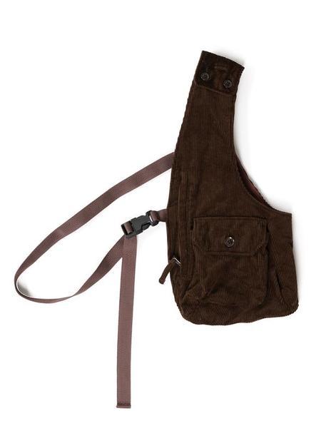 Engineered Garments Cotton 8W Corduroy Shoulder Vest - Brown