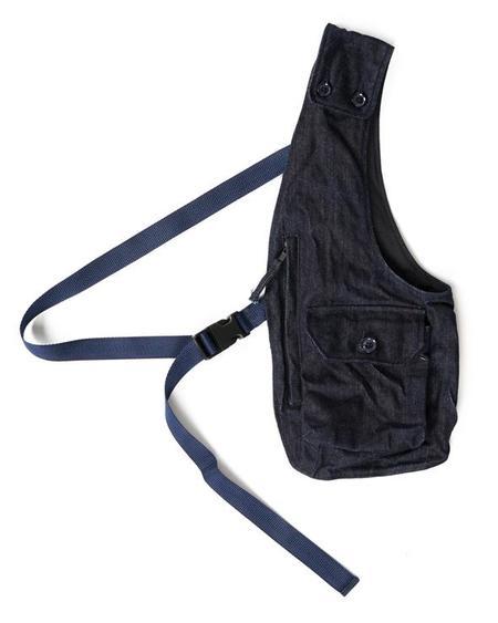 Engineered Garments 10oz Broken Denim Shoulder Vest - Indigo