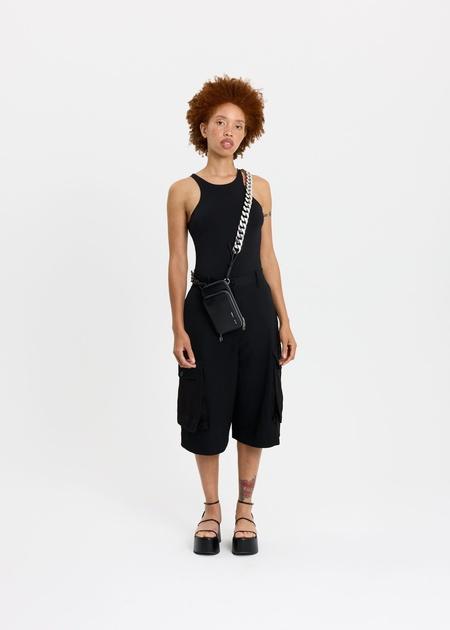 KARA Duplex Phone Bag with chain - Black