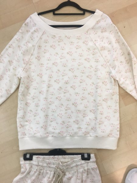 Jen's Pirate Booty All Day Sweatshirt - White Floral SAMPLE