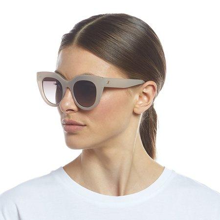 Le Specs Air Heart Sunglasses - Oatmeal