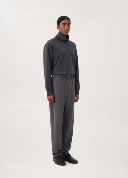 Lemaire High collar sweatshirt - custard