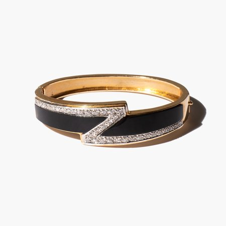 Kindred Black Seated in Majesty bangle - 14k gold