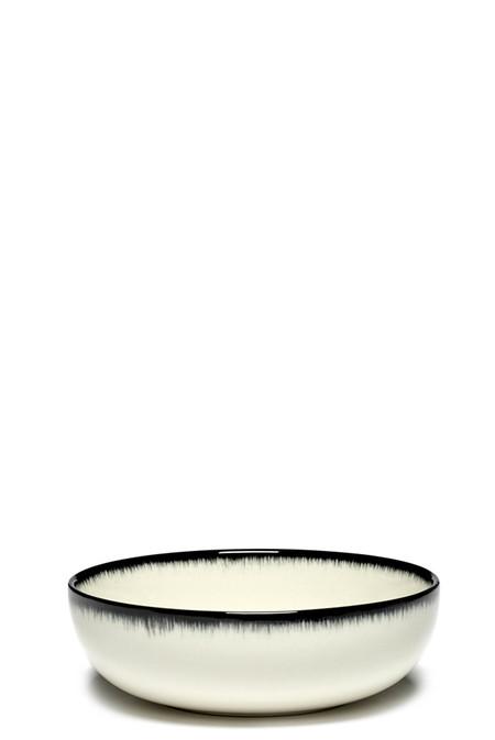 Ann Demeulemeester DÉ Var A 13cm High Plate - Off-White Black