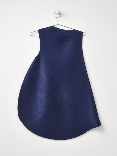 Pleats Please by Issey Miyake Leaf Spice Dress - Navy