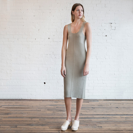 Lauren Manoogian Rib Dress Clay