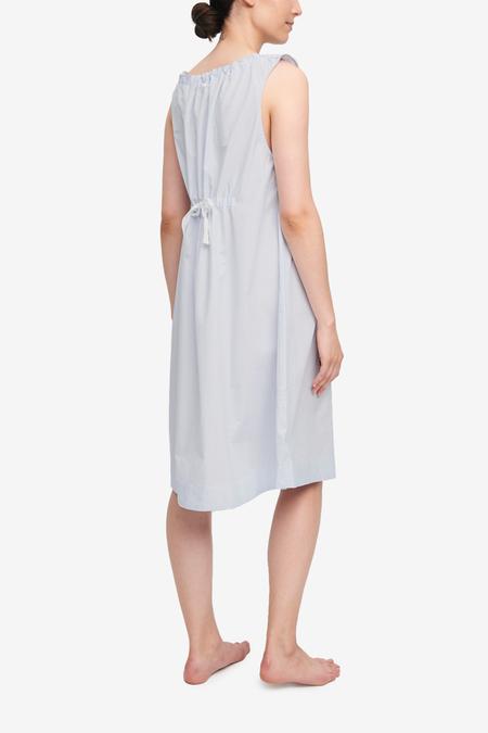 The Sleep Shirt Sleeveless Stripe Skinny Nightie - Light Blue