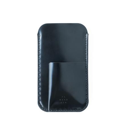 Unisex Cordovan iPhone Sleeve w/ Card Holder - Navy Horween