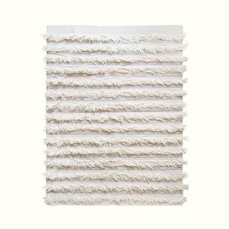 Kiliim Fringe Kilim Rug - White