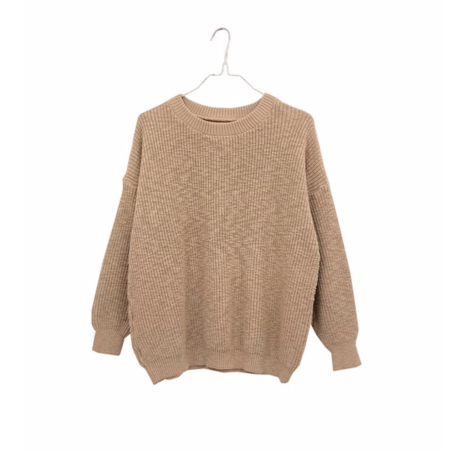 It Is Well L.A. Crewneck Pull-On Sweater - Camel