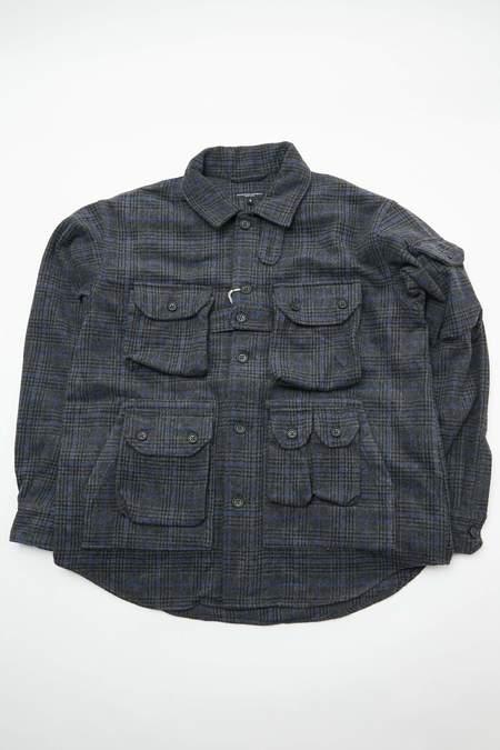 Engineered Garments Explorer Poly Wool Shirt Jacket - Dark Grey/Blue Glen Plaid