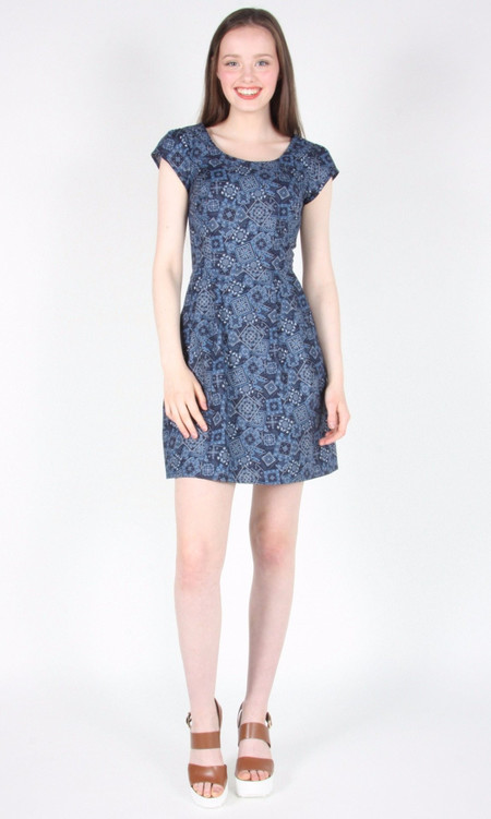 Birds of North America Waterthrush Dress (Blue Bandana)