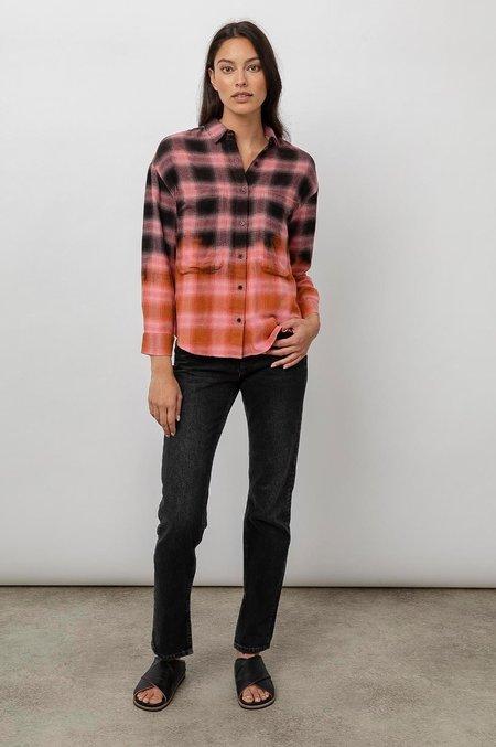 Rails Tierra Shirt - Pink/Orange Dip Dye