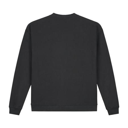 Unisex gray label adult dropped shoulder sweater - nearly black