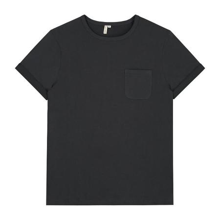 Unisex gray label adult s/s pocket tee - nearly black
