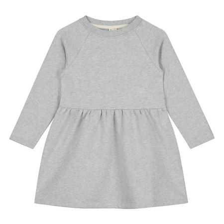 Kids gray label dress - grey melange