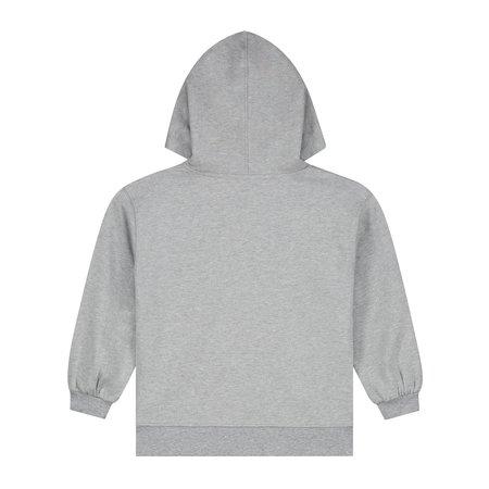 Kids gray label hoodie - grey melange