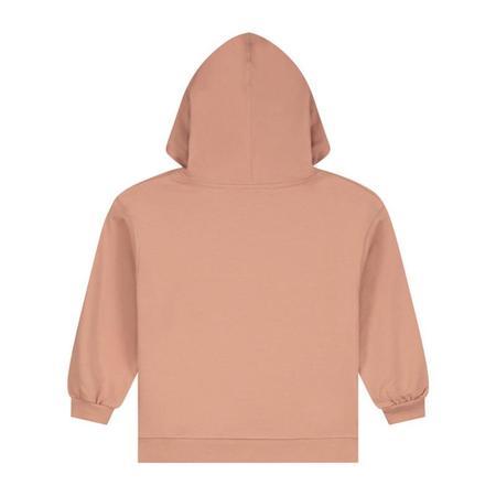 Kids gray label hoodie - rustic clay