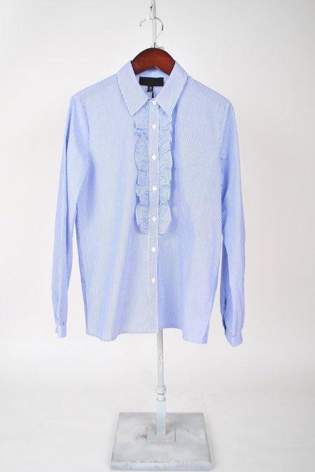 Nili Lotan Martha Shirt - Blue Stripe