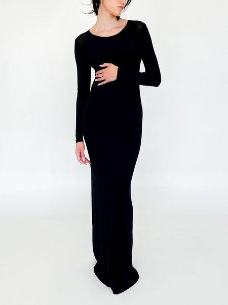 Vintage Donna Karan Slinky Maxi Dress - Black