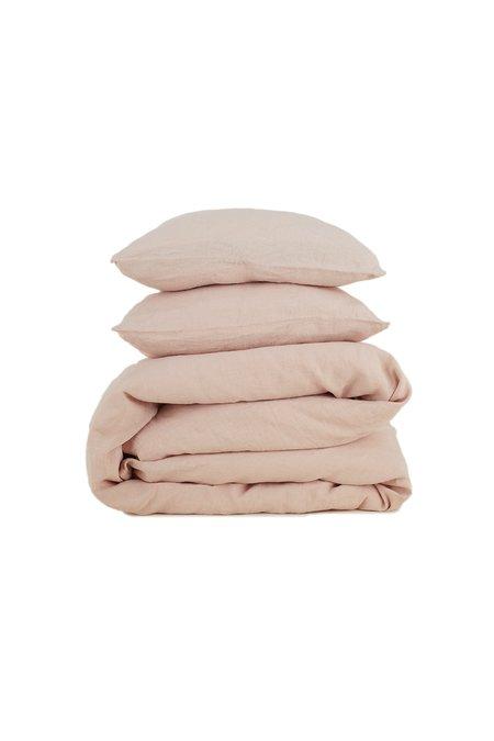 Hawkins New York Simple Standard Pair Linen Pillow Case - Blush