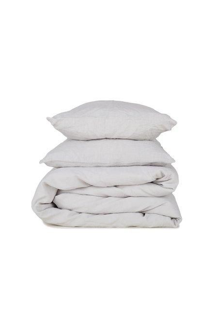 Hawkins New York Simple Linen Pillow Standard Pair - Light Grey