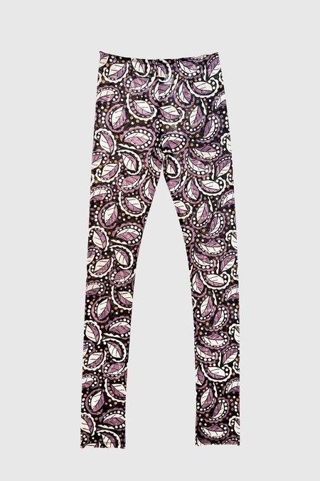 Anna Sui Swirling Leaves Leggings - Black Multi