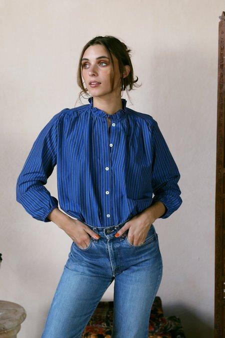 Mille Francesca Top - Cobalt Stripe