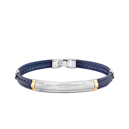 Italgem 007 Cable Bracelet - Steel/Blue