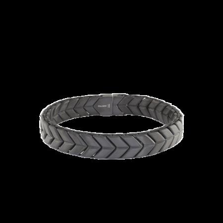 Italgem Matte Arrow Design Bracelet - Brown/Steel