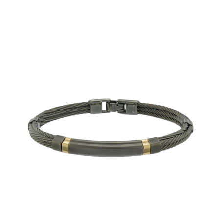 Italgem Teslar Cable Bracelet - Black/Gold