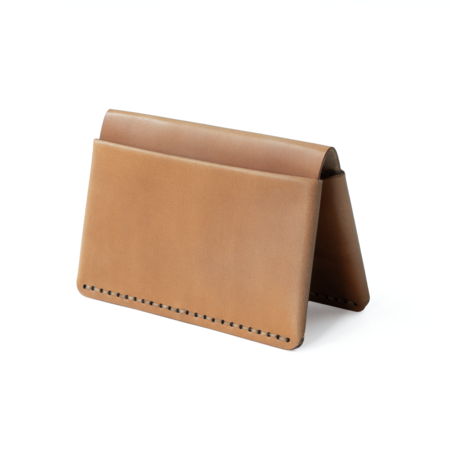 MAKR Horizon Four Wallet - Natural Horween Shell Cordovan Leather