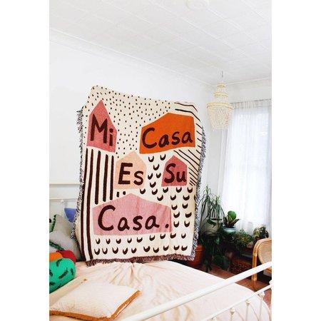 Calhoun & Co. Mi Casa Es Su Casa Woven Tapestry Blanket - MULTI