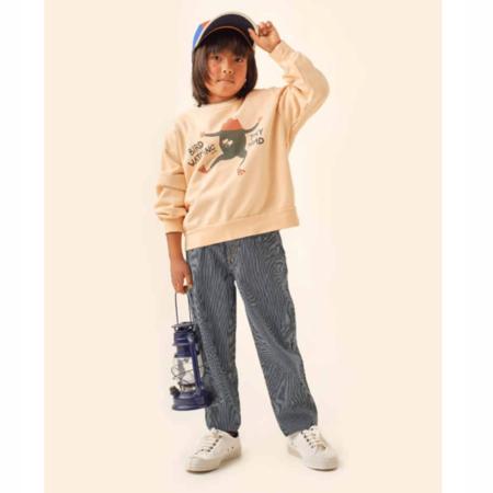 kids unisex Tinycottons Tiny Toad Sweatshirt - Cappuccino
