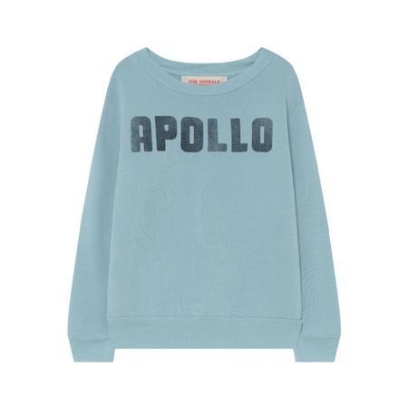 kids the animals observatory bear sweatshirt - soft blue apollo