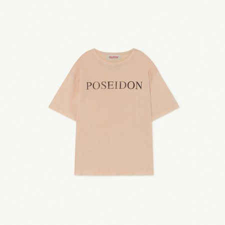 Kids The Animals Observatory Rooster Oversize T-Shirt - Soft Pink Poseidon