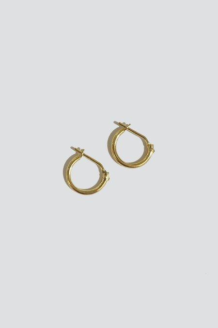 Vintage Hinge Hoops - 14K Gold