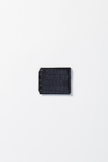 Unisex Audette Wallet - Black Croco
