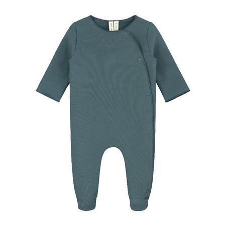 gray label newborn suit - blue grey
