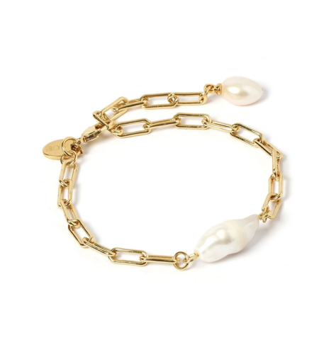 Arms Of Eve Danielle Bracelet - Gold/Pearl